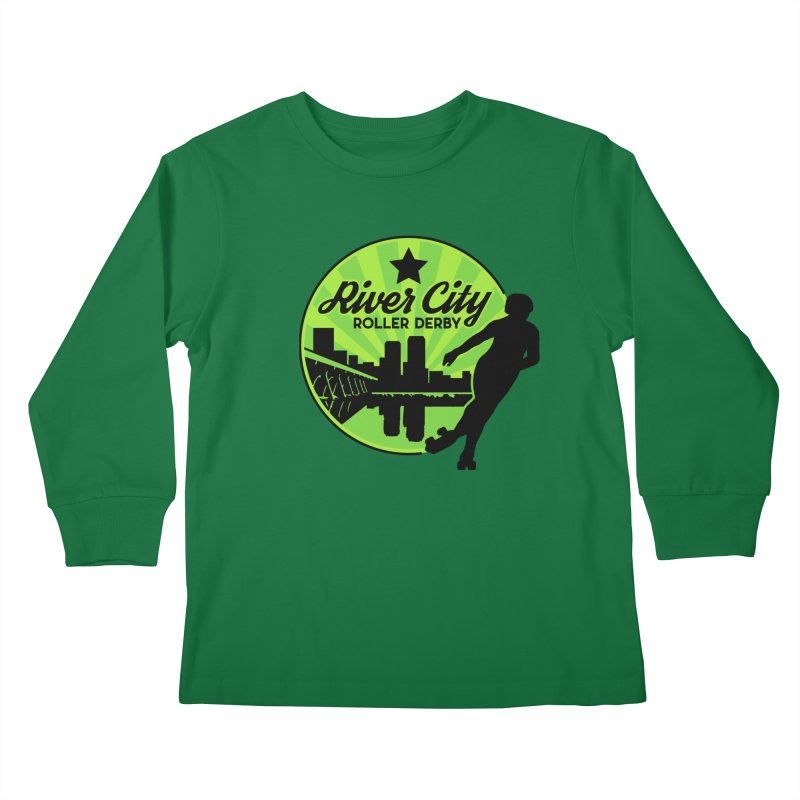 River City Roller Derby Logo Kids Longsleeve T-Shirt by RiverCityRollerDerby's Artist Shop