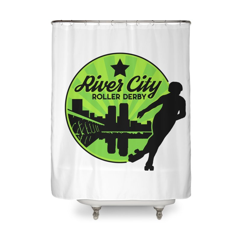 River City Roller Derby Logo Home Shower Curtain by RiverCityRollerDerby's Artist Shop