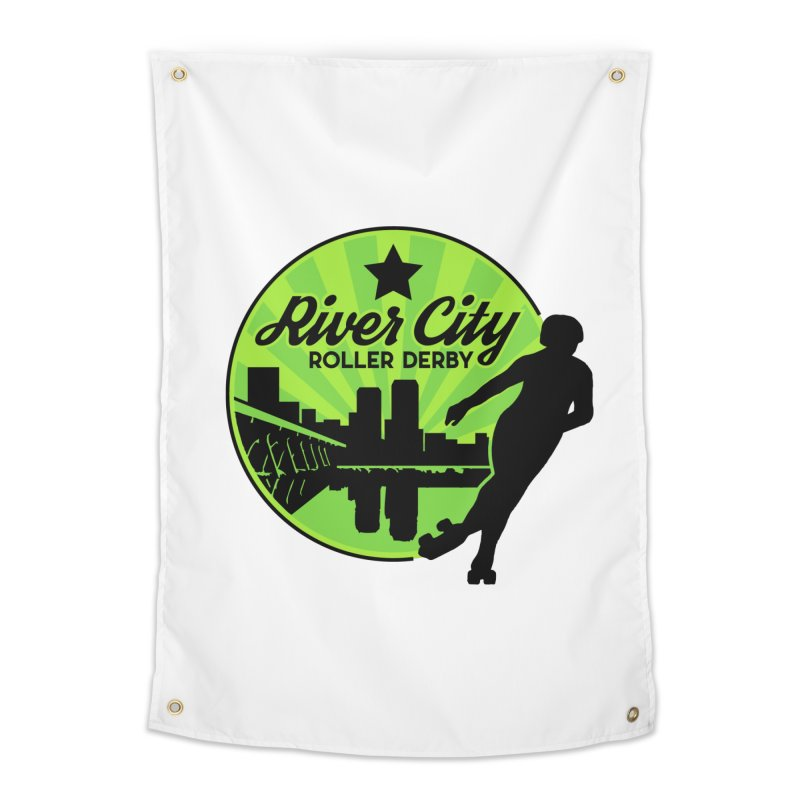 River City Roller Derby Logo Home Tapestry by RiverCityRollerDerby's Artist Shop