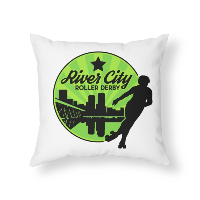 River City Roller Derby Logo Home Throw Pillow by River City Roller Derby's Artist Shop