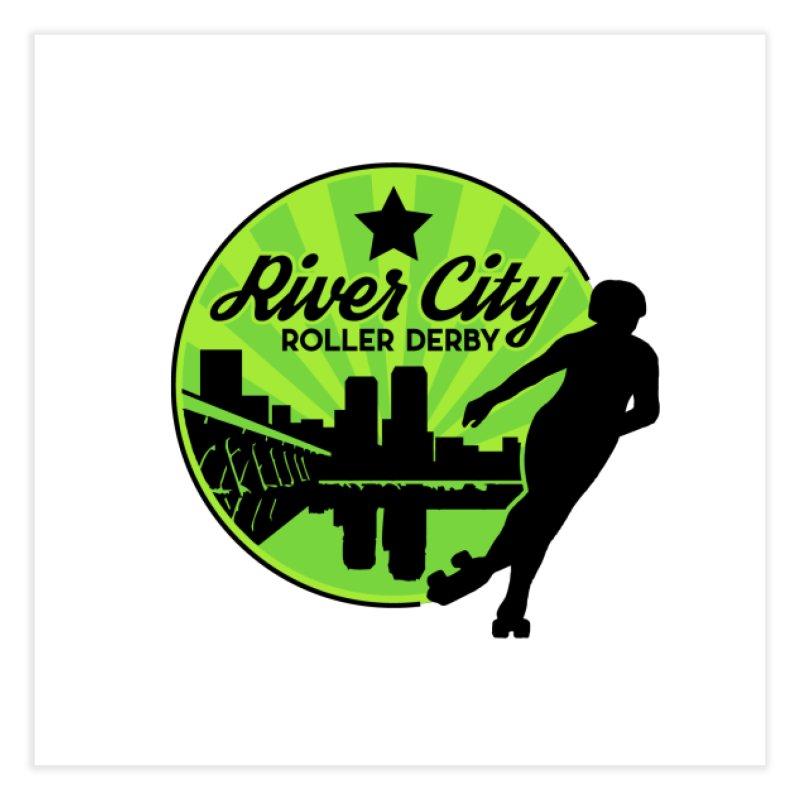 River City Roller Derby Logo Home Fine Art Print by RiverCityRollerDerby's Artist Shop