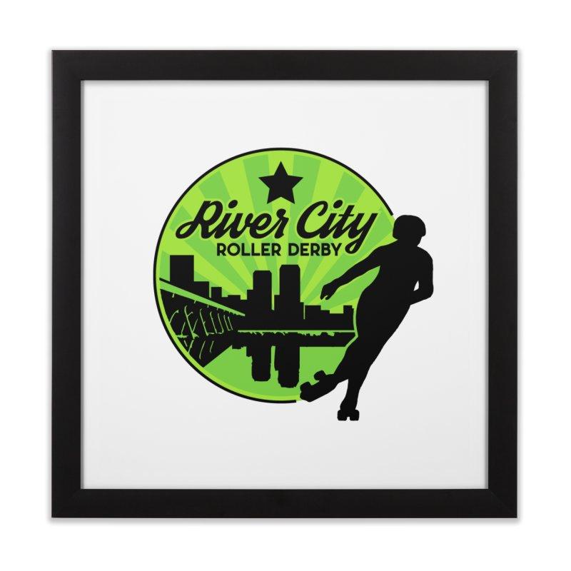 River City Roller Derby Logo Home Framed Fine Art Print by RiverCityRollerDerby's Artist Shop