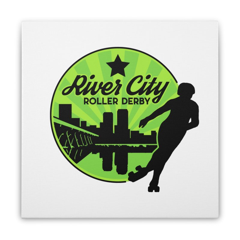 River City Roller Derby Logo Home Stretched Canvas by RiverCityRollerDerby's Artist Shop