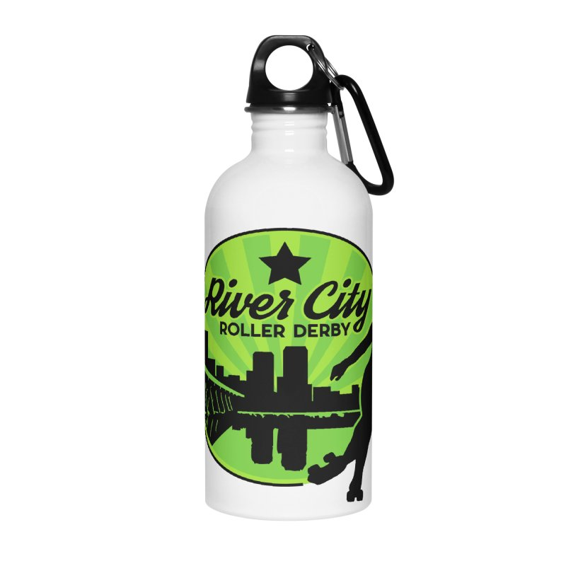 River City Roller Derby Logo Accessories Water Bottle by River City Roller Derby's Artist Shop