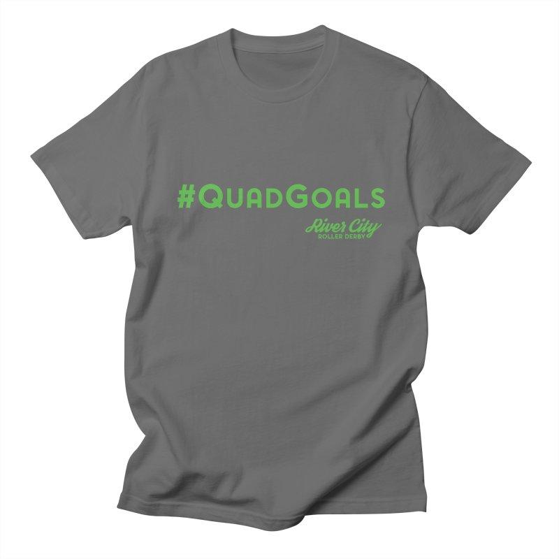 #QuadGoals Men's T-Shirt by River City Roller Derby's Artist Shop