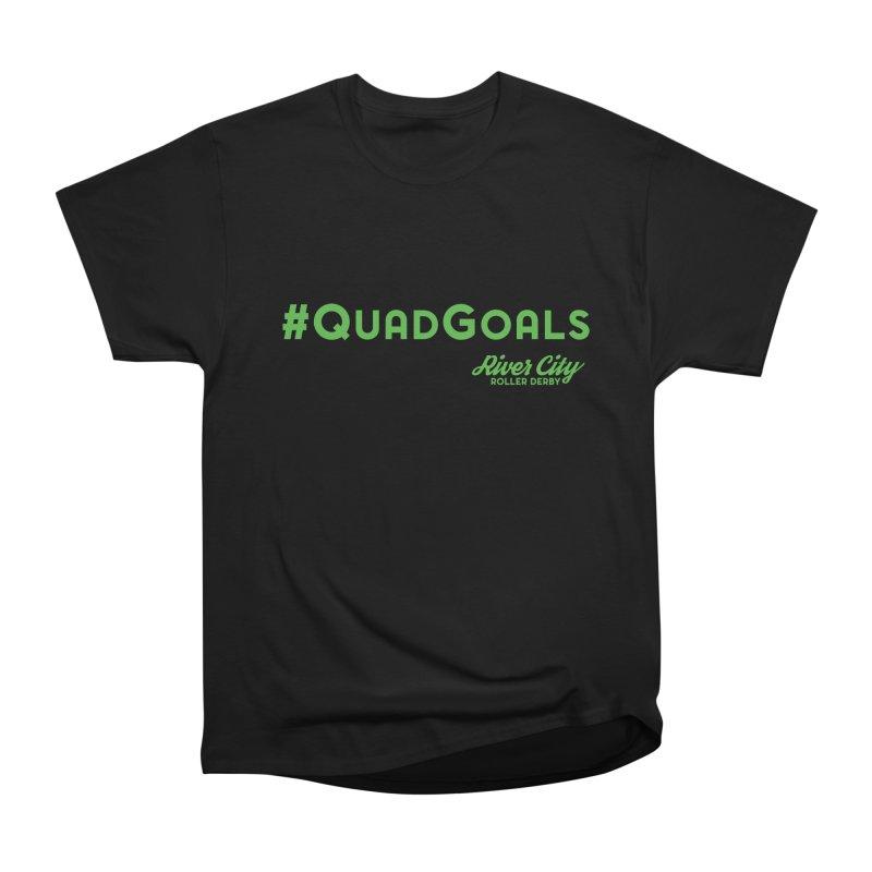 #QuadGoals Men's Heavyweight T-Shirt by River City Roller Derby's Artist Shop