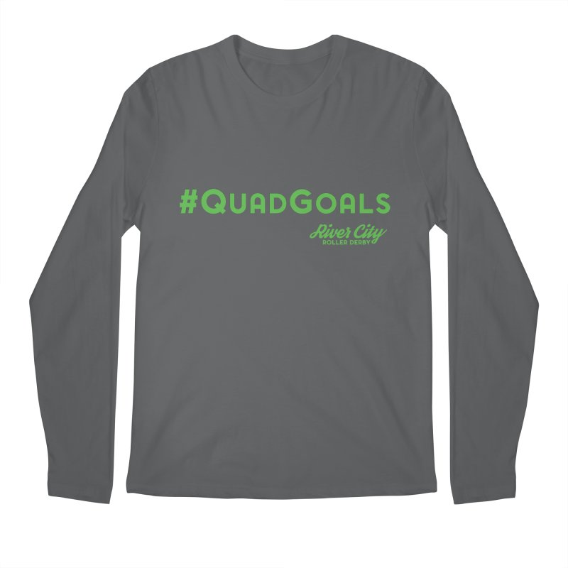 #QuadGoals Men's Regular Longsleeve T-Shirt by River City Roller Derby's Artist Shop