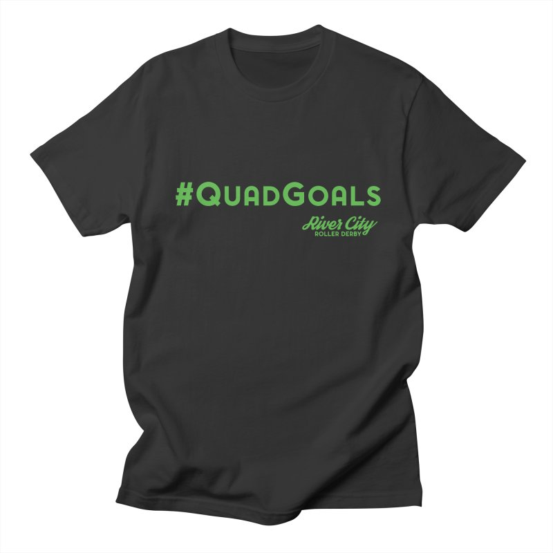 #QuadGoals Men's Regular T-Shirt by River City Roller Derby's Artist Shop