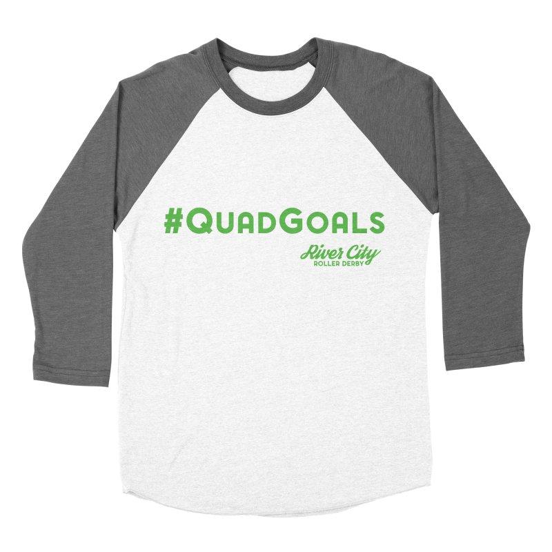 #QuadGoals Women's Baseball Triblend Longsleeve T-Shirt by River City Roller Derby's Artist Shop
