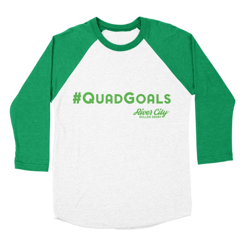 #QuadGoals Women's Baseball Triblend Longsleeve T-Shirt by RiverCityRollerDerby's Artist Shop
