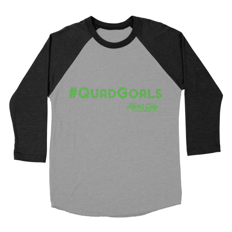 #QuadGoals Men's Baseball Triblend Longsleeve T-Shirt by River City Roller Derby's Artist Shop
