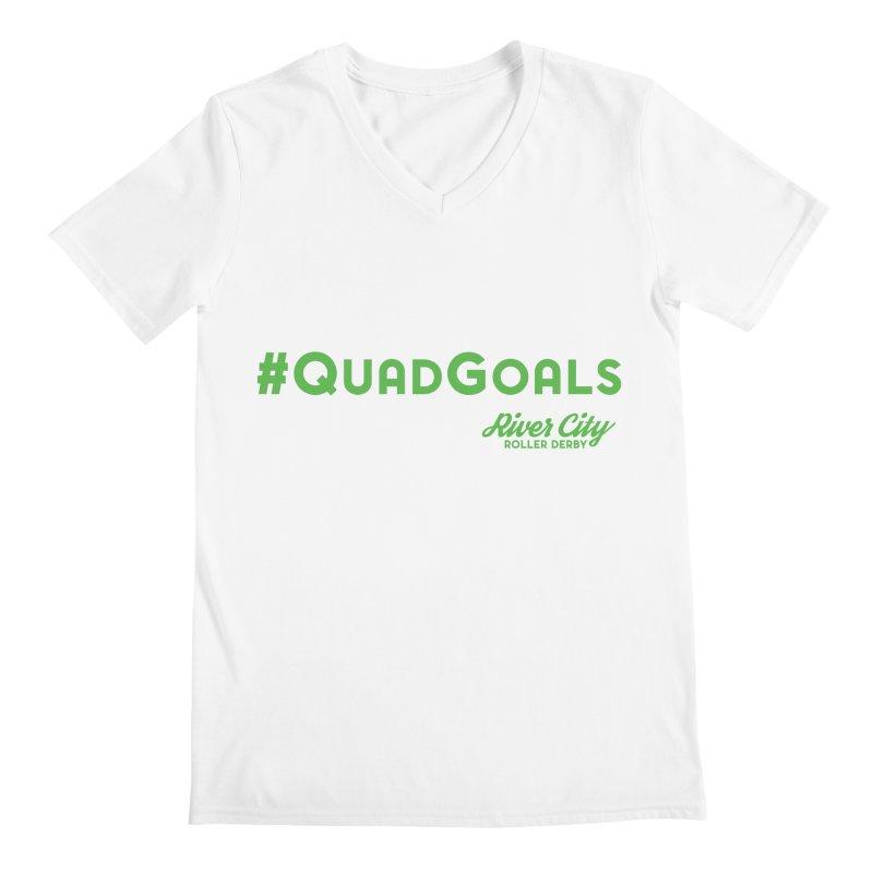#QuadGoals Men's Regular V-Neck by RiverCityRollerDerby's Artist Shop