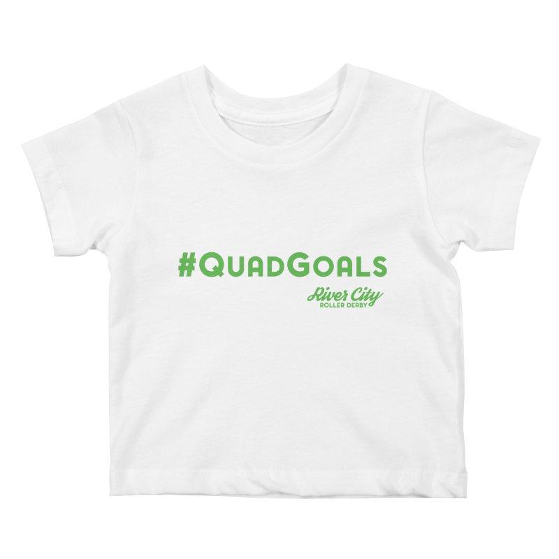 #QuadGoals Kids Baby T-Shirt by RiverCityRollerDerby's Artist Shop