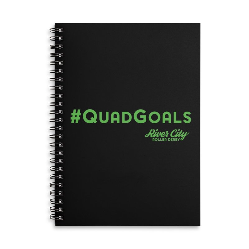#QuadGoals Accessories Lined Spiral Notebook by River City Roller Derby's Artist Shop
