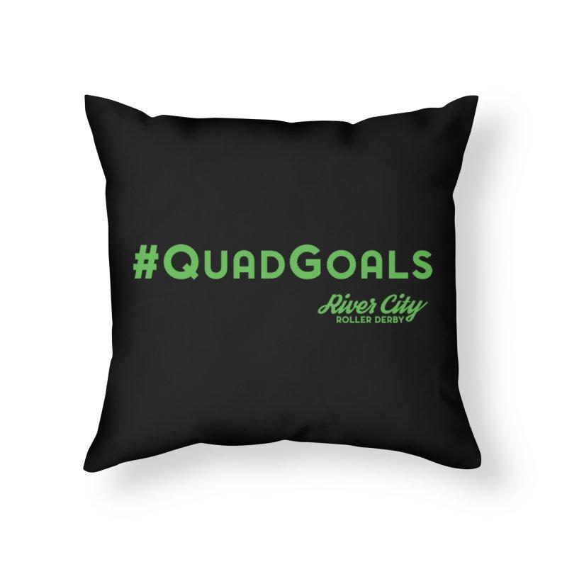 #QuadGoals Home Throw Pillow by RiverCityRollerDerby's Artist Shop