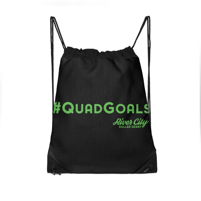 #QuadGoals Accessories Drawstring Bag Bag by River City Roller Derby's Artist Shop