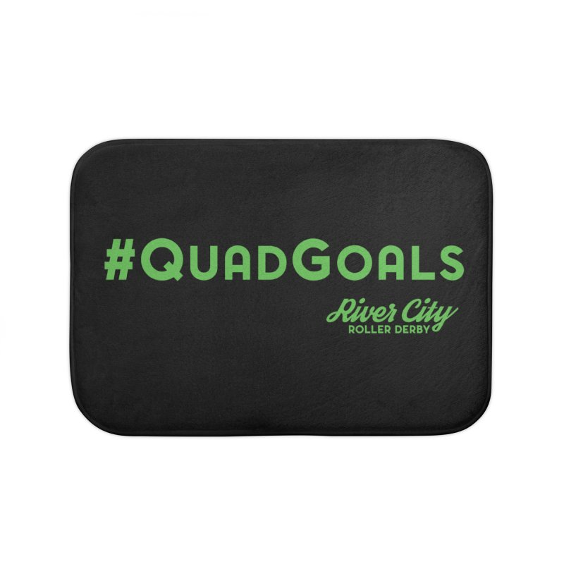 #QuadGoals Home Bath Mat by River City Roller Derby's Artist Shop