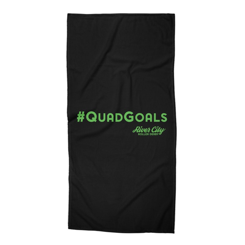#QuadGoals Accessories Beach Towel by River City Roller Derby's Artist Shop