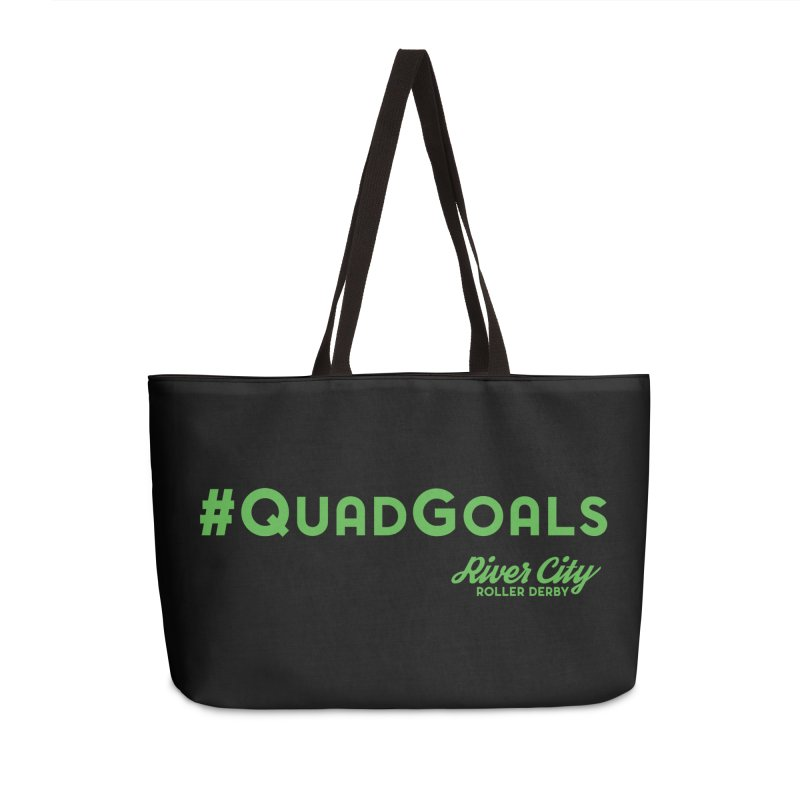 #QuadGoals Accessories Weekender Bag Bag by River City Roller Derby's Artist Shop