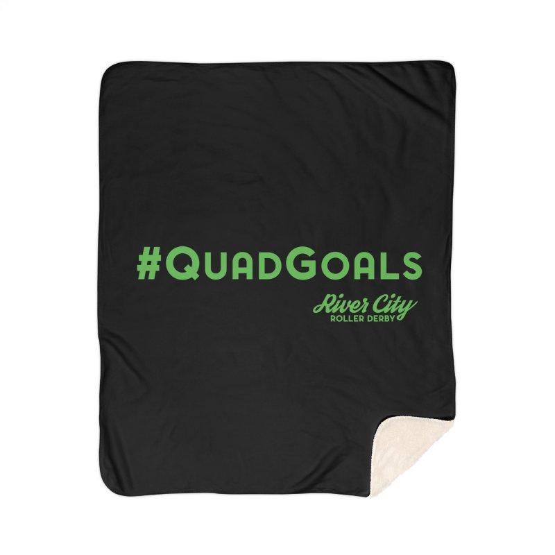 #QuadGoals Home Sherpa Blanket Blanket by River City Roller Derby's Artist Shop