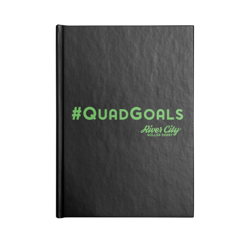 #QuadGoals Accessories Lined Journal Notebook by River City Roller Derby's Artist Shop