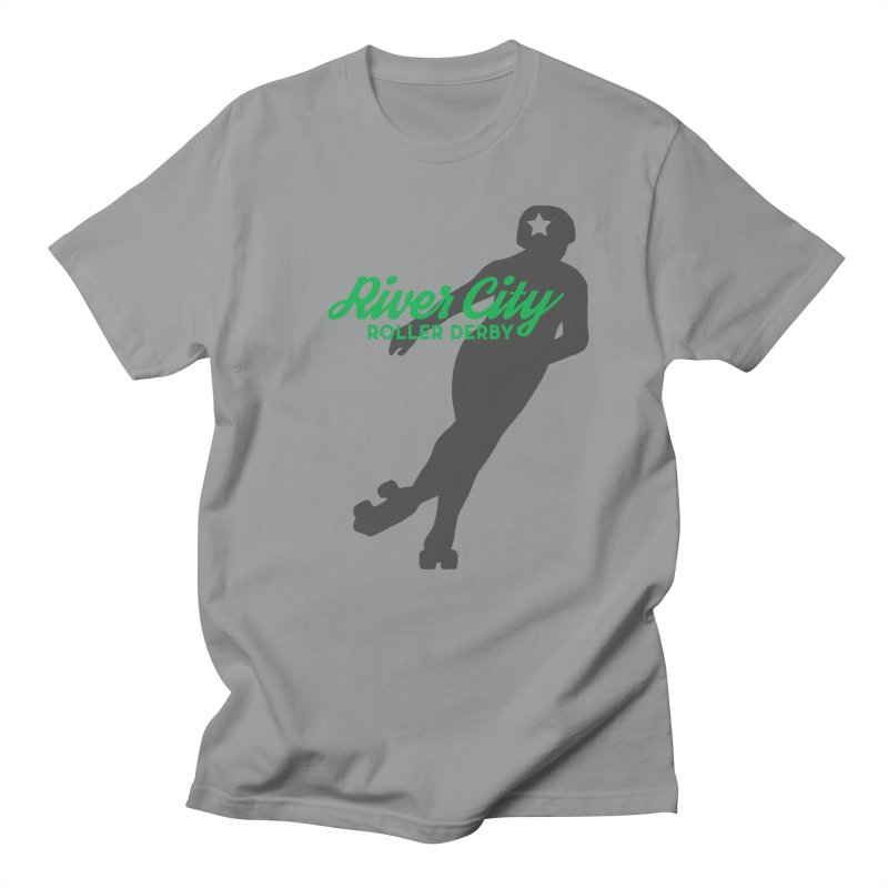 River City Roller Derby Skater Men's Regular T-Shirt by RiverCityRollerDerby's Artist Shop