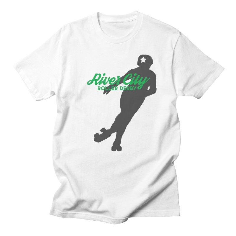 River City Roller Derby Skater Men's T-Shirt by River City Roller Derby's Artist Shop