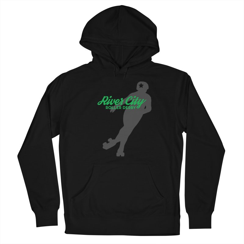 River City Roller Derby Skater Men's French Terry Pullover Hoody by River City Roller Derby's Artist Shop