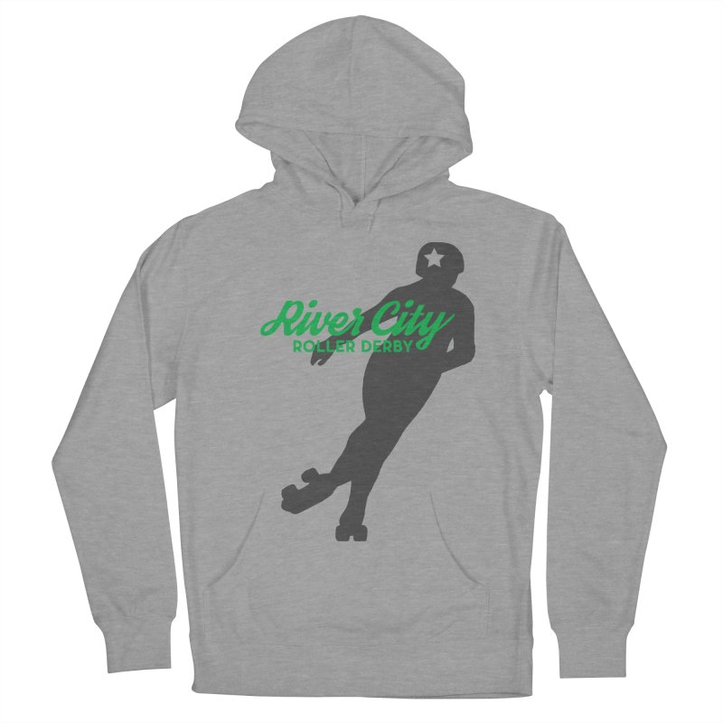 River City Roller Derby Skater Men's French Terry Pullover Hoody by RiverCityRollerDerby's Artist Shop