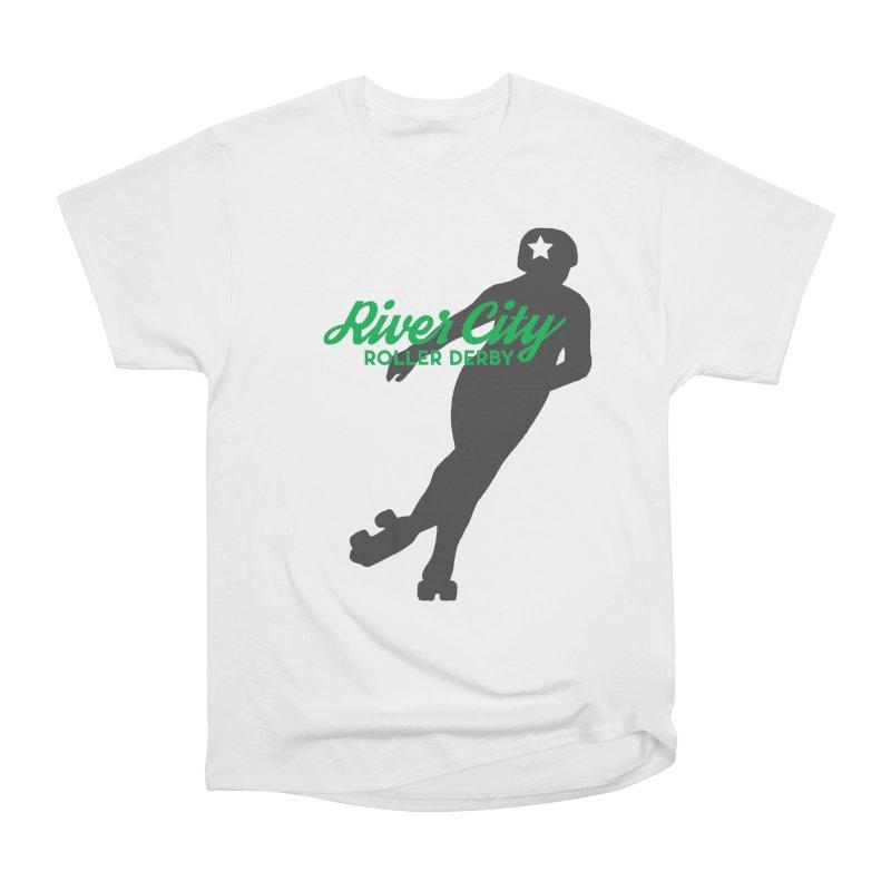 River City Roller Derby Skater Women's Heavyweight Unisex T-Shirt by RiverCityRollerDerby's Artist Shop