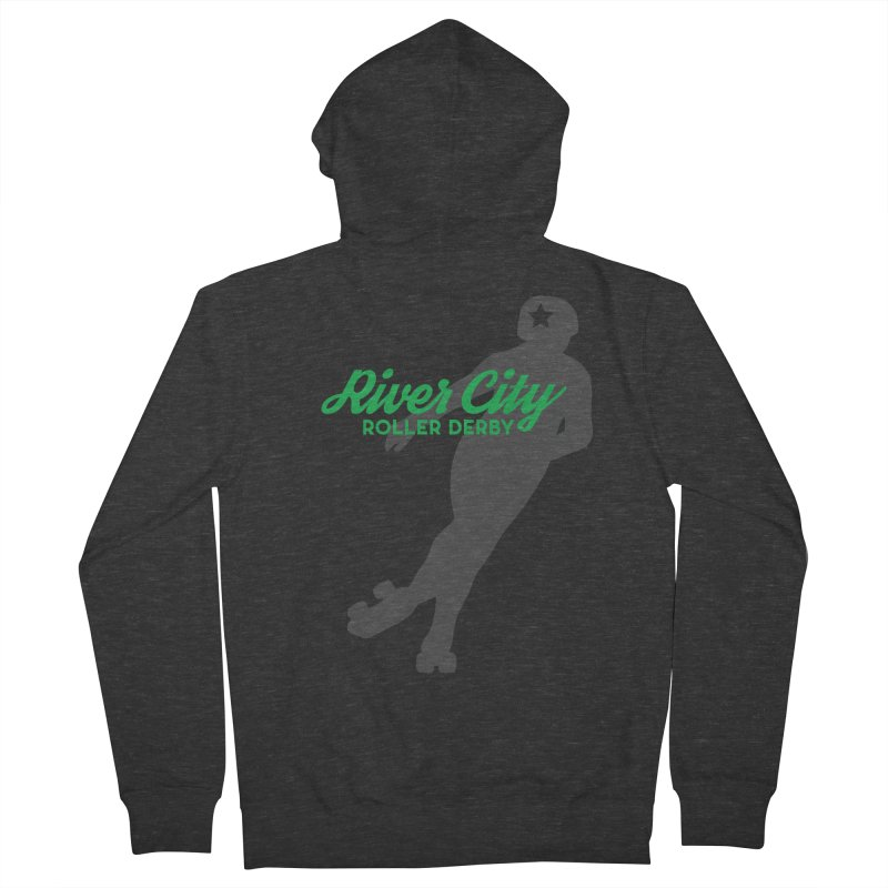 River City Roller Derby Skater Women's French Terry Zip-Up Hoody by RiverCityRollerDerby's Artist Shop
