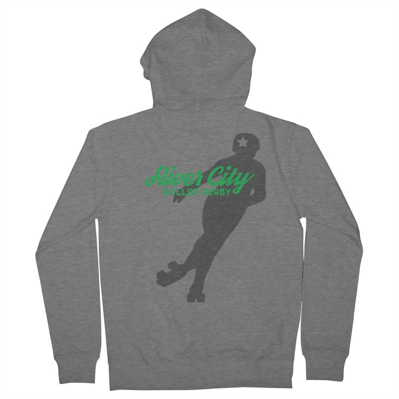 River City Roller Derby Skater Women's French Terry Zip-Up Hoody by River City Roller Derby's Artist Shop