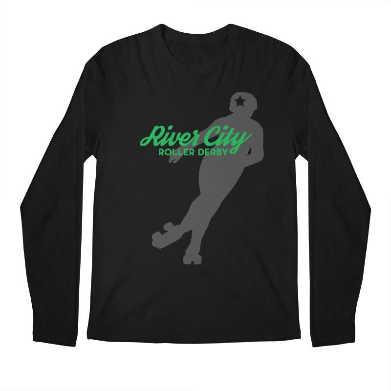 River City Roller Derby Skater Men's Regular Longsleeve T-Shirt by River City Roller Derby's Artist Shop