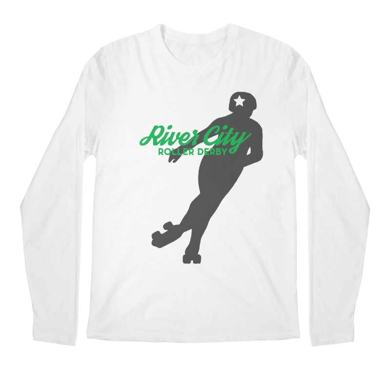 River City Roller Derby Skater Men's Regular Longsleeve T-Shirt by River City Roller Derby's Artist Shop