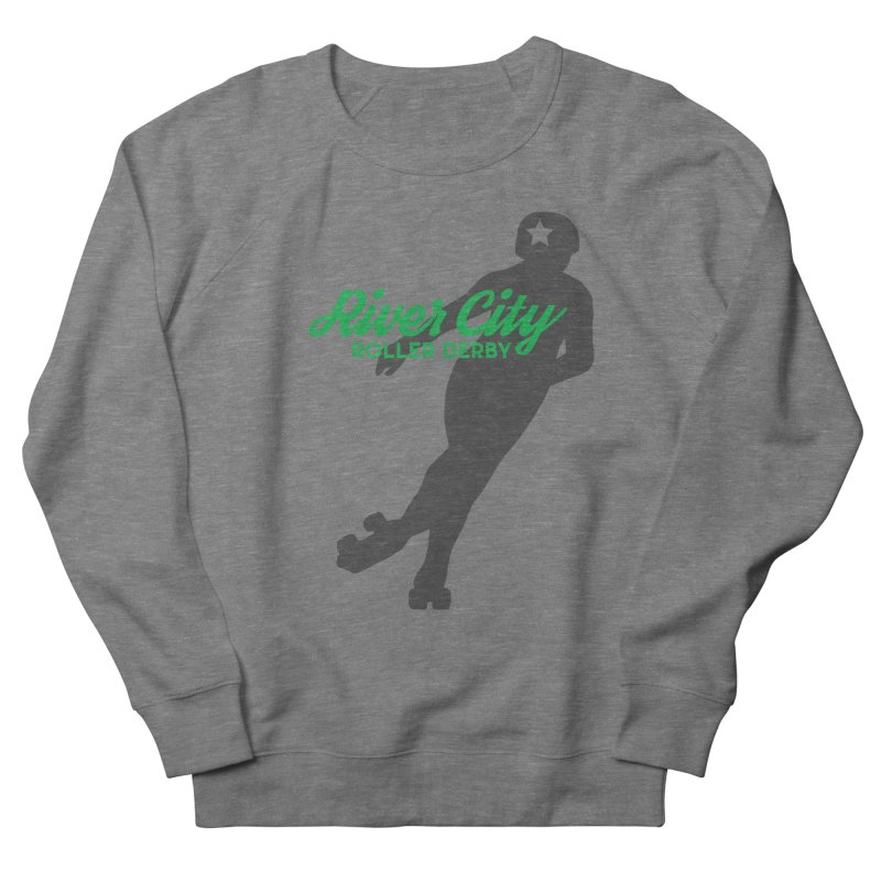 River City Roller Derby Skater Women's French Terry Sweatshirt by River City Roller Derby's Artist Shop
