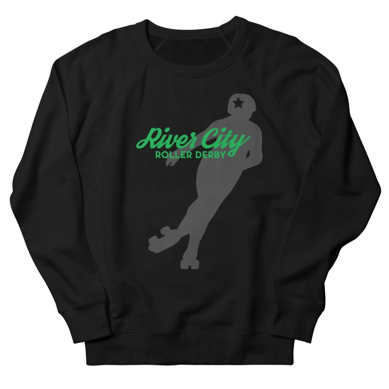 River City Roller Derby Skater Men's French Terry Sweatshirt by River City Roller Derby's Artist Shop