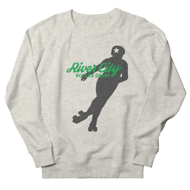 River City Roller Derby Skater Men's French Terry Sweatshirt by RiverCityRollerDerby's Artist Shop