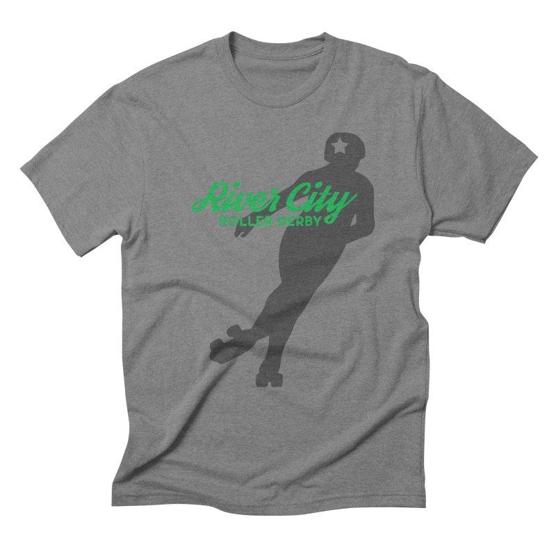 River City Roller Derby Skater Men's Triblend T-Shirt by RiverCityRollerDerby's Artist Shop
