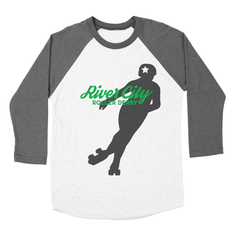 River City Roller Derby Skater Women's Baseball Triblend Longsleeve T-Shirt by RiverCityRollerDerby's Artist Shop