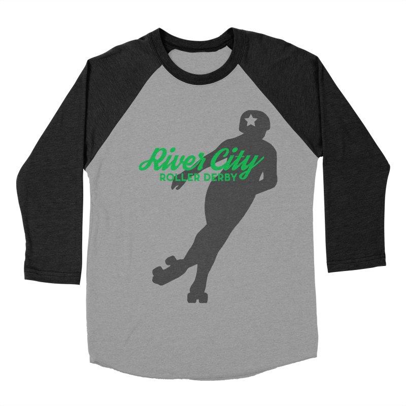 River City Roller Derby Skater Women's Baseball Triblend Longsleeve T-Shirt by River City Roller Derby's Artist Shop