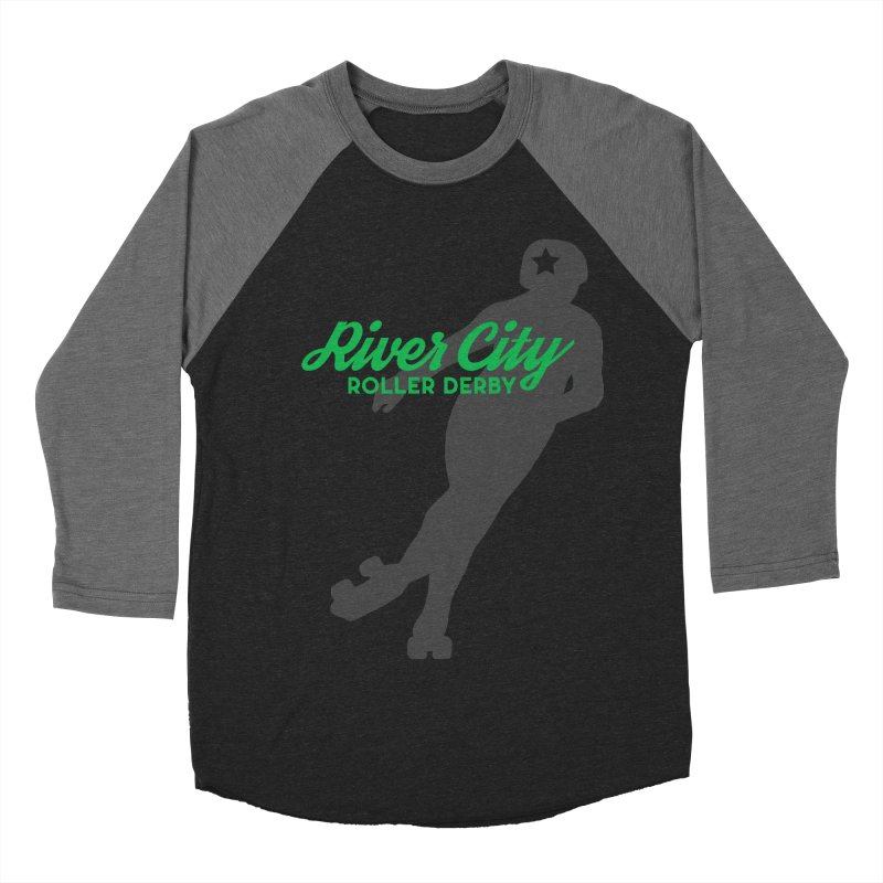 River City Roller Derby Skater Men's Baseball Triblend Longsleeve T-Shirt by RiverCityRollerDerby's Artist Shop