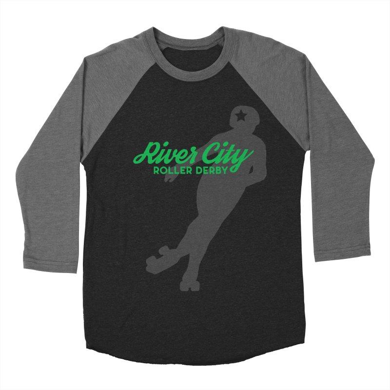 River City Roller Derby Skater Men's Baseball Triblend Longsleeve T-Shirt by River City Roller Derby's Artist Shop