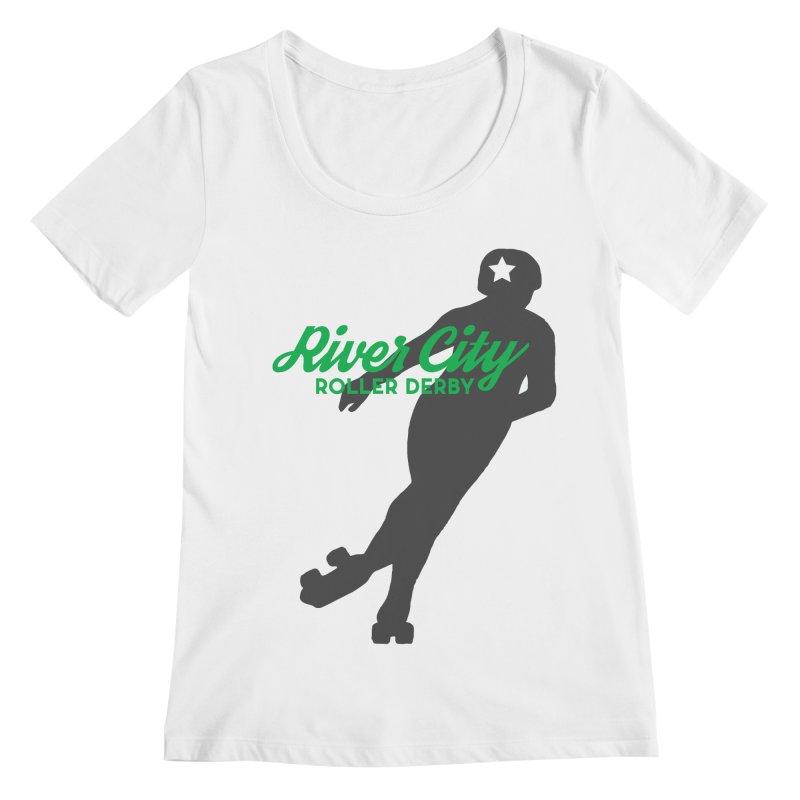 River City Roller Derby Skater Women's Regular Scoop Neck by River City Roller Derby's Artist Shop