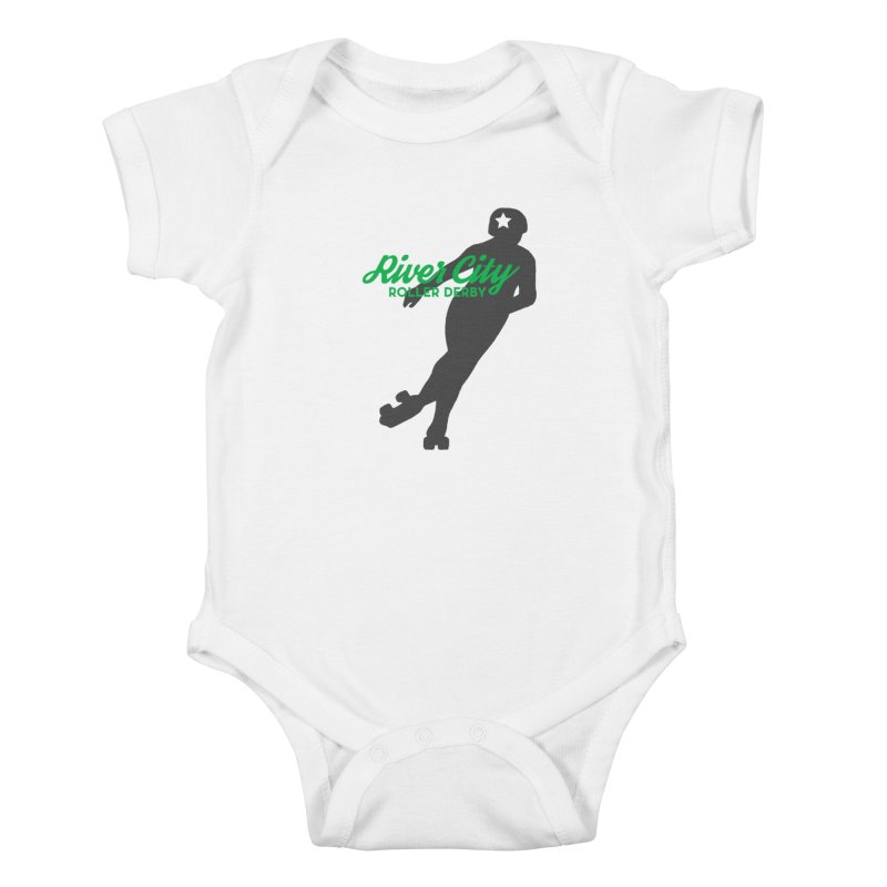 River City Roller Derby Skater Kids Baby Bodysuit by RiverCityRollerDerby's Artist Shop