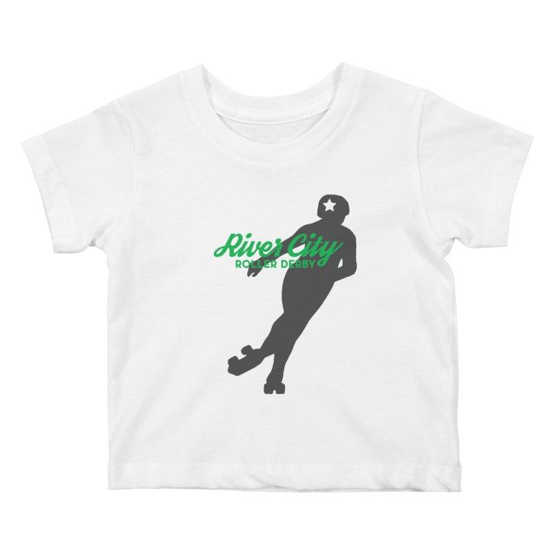 River City Roller Derby Skater Kids Baby T-Shirt by RiverCityRollerDerby's Artist Shop
