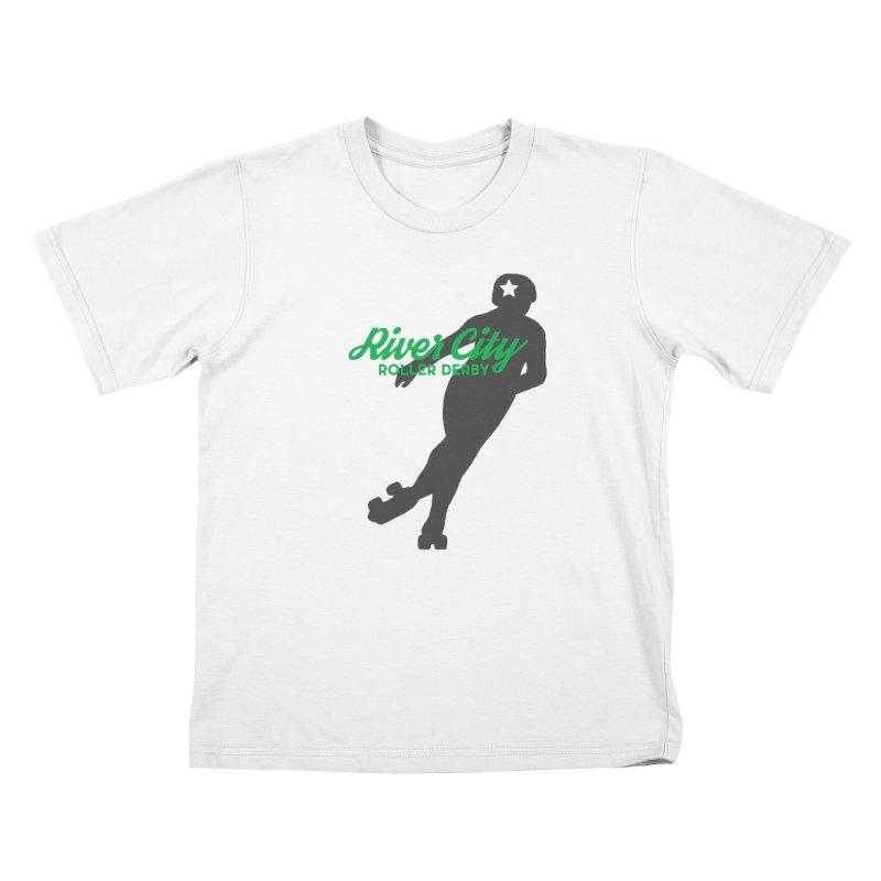 River City Roller Derby Skater Kids T-Shirt by River City Roller Derby's Artist Shop