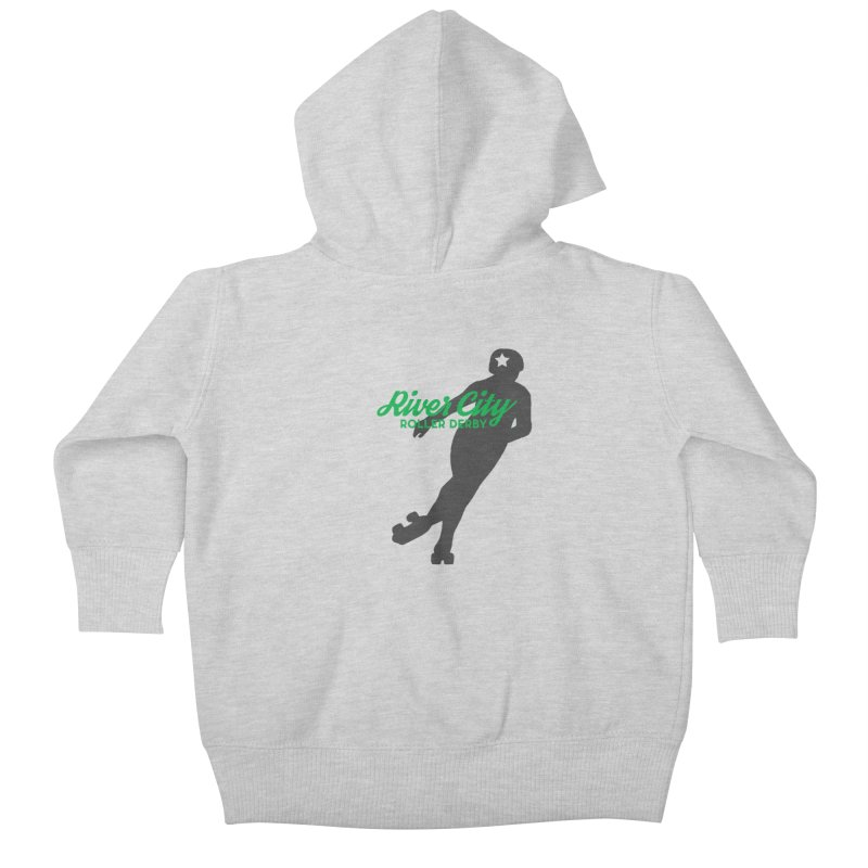 River City Roller Derby Skater Kids Baby Zip-Up Hoody by River City Roller Derby's Artist Shop