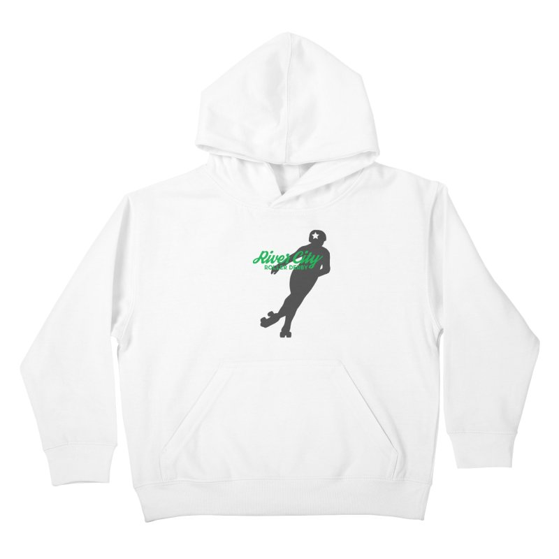 River City Roller Derby Skater Kids Pullover Hoody by RiverCityRollerDerby's Artist Shop