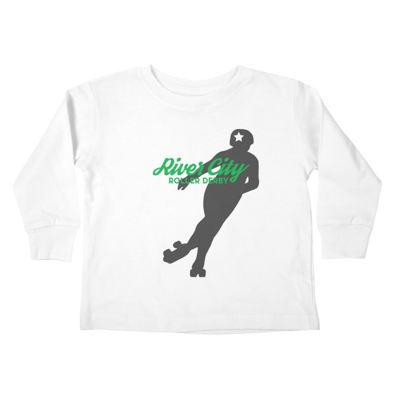 River City Roller Derby Skater Kids Toddler Longsleeve T-Shirt by RiverCityRollerDerby's Artist Shop