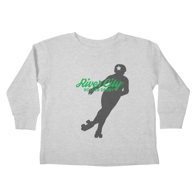 River City Roller Derby Skater Kids Toddler Longsleeve T-Shirt by River City Roller Derby's Artist Shop